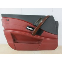 BMW M5 5 Series E60 Red Passenger Nearside Left Front Door Card Panel Trim